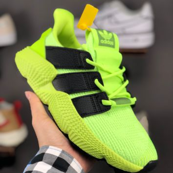 HCXX A1360 Adidas ORIGINALS PROPHERE Knit Fashion Running Shoes Fluorescent Green