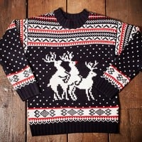 Reindeer Threesome Christmas Jumper at Firebox.com