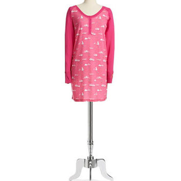 Munki Munki Bunny Patterned Sleep Shirt