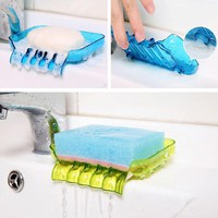New Arrival Bathroom Draining Soap Box Kitchen Sink Sponge Drainage Soap Dish Kitchen Bathroom Accessories Soap Box