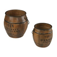 Set Of 2 Wine Culture Bins