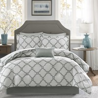 Madison Park Essentials Grey Merritt Complete Bed and Sheet Set