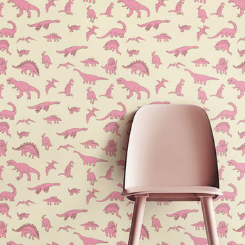 Removable Wallpaper, Self-adhesive Wallpaper, Dinosaur Wallpaper, Jungle Wall Décor, Jungle Wallcovering - JW071