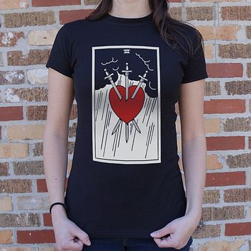 Tarot Card [Three of Swords] Women's T-Shirt