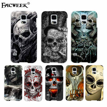 Kiss Flower Skull Head Photo Cell Phone Case Carcasa Coque For Samsung Galaxy S5 I9600 Back Cover Silicone Protective Shell Capa