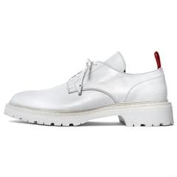 ALL WHITE LOW TOP BOOT
