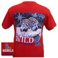 Mississippi Ole Miss Rebels Turkey Wild Backwoods Unisex Bright T-Shirt
