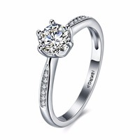 Fashion Shining Cubic Zirconia Solitaire Rings For Women Promise Rings for Wedding Engagement Women Jewelry (RI102231)