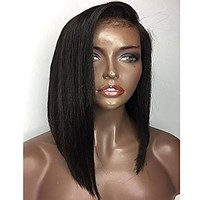 Short Bob Straight Lace Wig (Side Part)