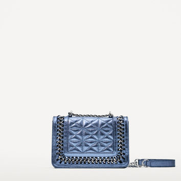 QUILTED LEATHER MINI CROSSBODY BAG