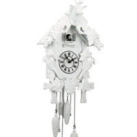 Torre & Tagus Village White Cuckoo Clock - Open White