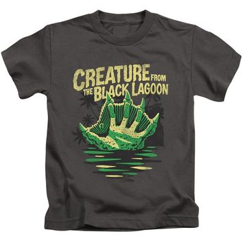 Creature from the Black Lagoon Boys T-Shirt Hand Charcoal Tee