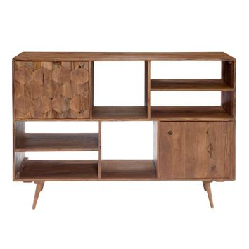 Orianne Mid Century Sheesham Wood Bookshelf