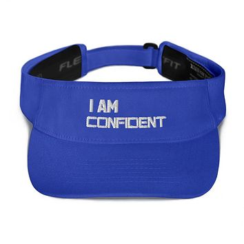 """""""I AM CONFIDENT"""" Positive Motivational & Inspiring Quoted Embroidery Visor"""