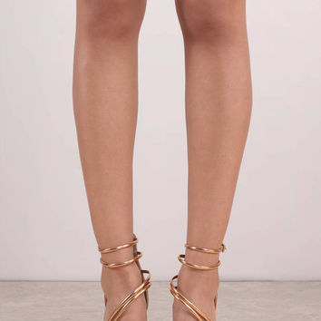 Out of This Club Strappy Heels