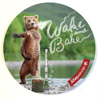 WAKE AND BAKE BEAR DAB MAT