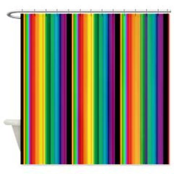 Deep Colored Stripes Shower Curtain> Deep Colored Stripes > Allcolor