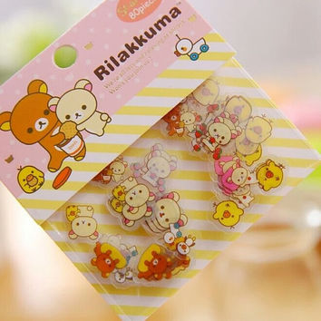 Rilakkuma Stickers, 80 Flakes, Cute Brown Bear