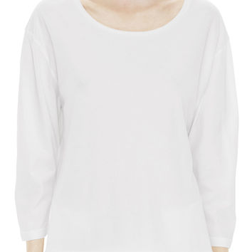 Acne Studios Witkin Cotton Veil White 3/4 Sleeve Tee Shirt
