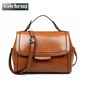 2016 New Fashion British Style Retro Doctor Bag Women Messenger Bags Shoulder Handbag Women PU leather Laide Bolso Doctor Retro