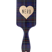 Plaid Nerd Paddle Brush