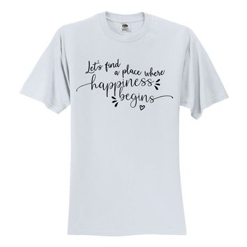 "Jonas Brothers ""Let's find a place where Happiness Begins"" T-Shirt"