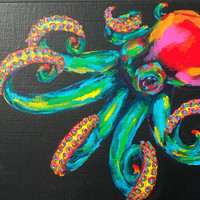 Technocolor Octopus by sweisbrod on Etsy