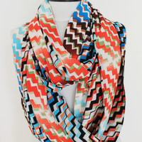 chevron scarf,infinity scarf, scarf, scarves, long scarf, loop scarf, gift