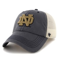 '47 Brand Notre Dame Fighting Irish Caprock Canyon Flex Hat - Navy Blue/White