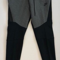 KUYOU Nike Tech Fleece Bottom Black Charcoal Heather Black 805162-071