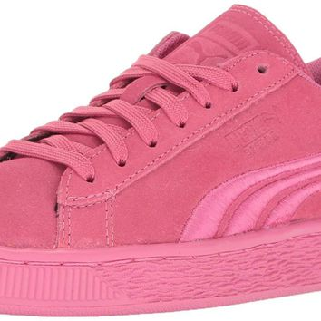 PUMA Girls' Suede Classic Badge PS Sneaker