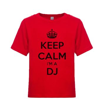 Keep Calm I'm A DJ Unisex Kid's Tee