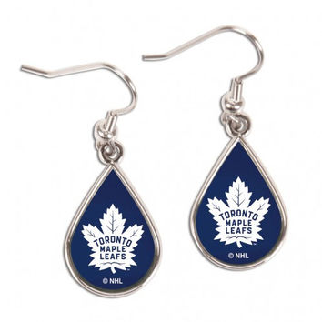 Toronto Maple Leafs Earrings Tear Drop Style
