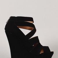 Bamboo Dreamer-28 Strappy Platform Wedge