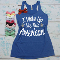 American Pride tank top. 4th of July Shirt. Independence Day Shirt. Independence Day Tank. 4th of July Tank. USA shirt. America Shirt.