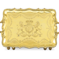 Regency Silver Gilt Tray by Rundell and Jackson - Recent Acquisitions | M.S. Rau Antiques