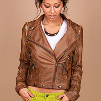 Faux Leather Moto Jacket- Trendy Jackets at Pinkice.com