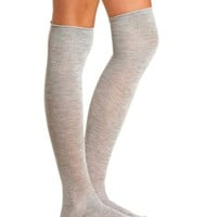 Basic Heathered Over-the-Knee Socks by Charlotte Russe
