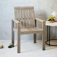 Portside Dining Armchair - Weathered Gray