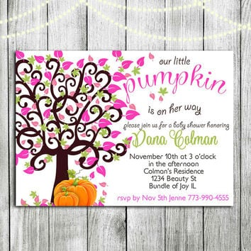 Printable Fall Baby Shower Invitations Template Fall baby shower invite Baby shower invitation thanksgiving Halloween baby shower