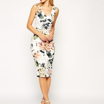 ASOS Garden Rose Pencil Dress