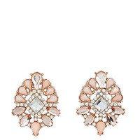 Limited Edition Pink Stone Rope Earrings