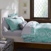 Natalia Duvet Cover + Sham, Pool