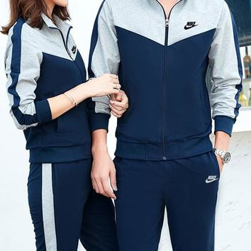 Nike Fashion Casual Cardigan Jacket Coat Pants Trousers Set Two-Piece