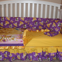 Beauty and the Beast 5 Piece Crib Set