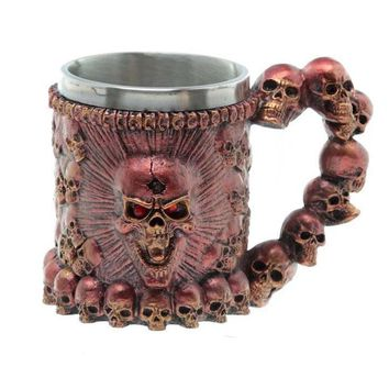 Skull Coffee Cup 300ml Stainless Steel Double Wall