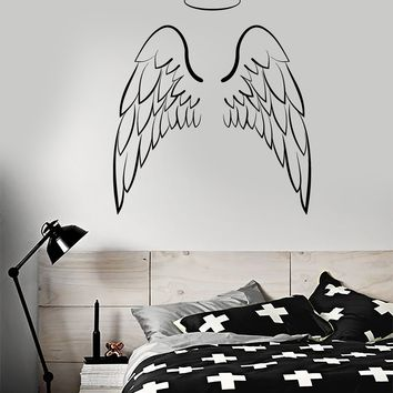 Vinyl Wall Decal Angel Wings Bedroom Decoration Stickers Unique Gift (ig4107)