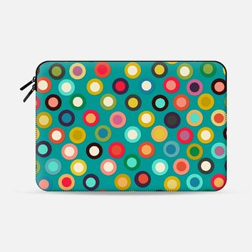 "turquoise pop spot macbook Macbook Pro 13"" sleeve by Sharon Turner 