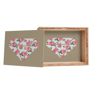 Allyson Johnson Floral Diamond Storage Box