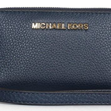 Michael Kors Beford Large Flat Multi Function Phone Case Wristlet Navy